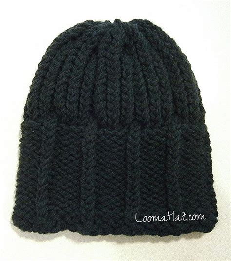 mens knitted hat patterns loom knit mens hat loomahat