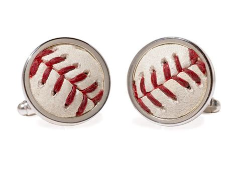 New York Yankees Game Used Baseball Cuff Links   Tokens & Icons
