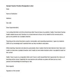 Resignation Letter Sle Due To Study Resignation Letter Template 14 Free Sle