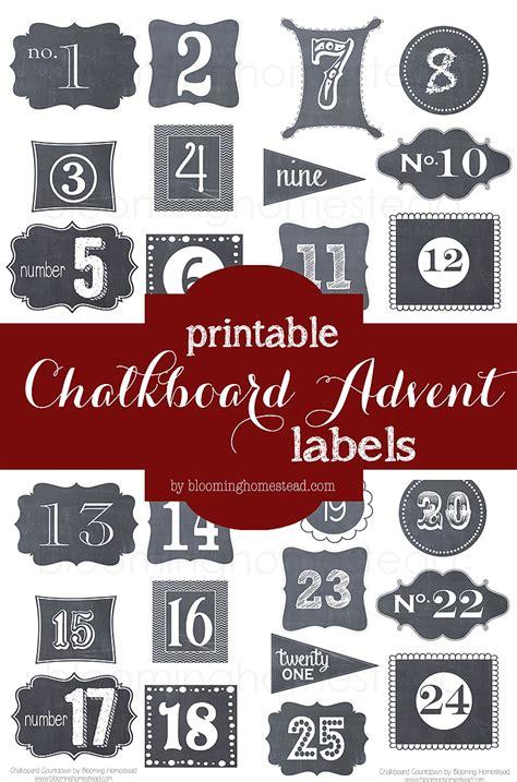 printable advent calendar labels christmas book countdown blooming homestead
