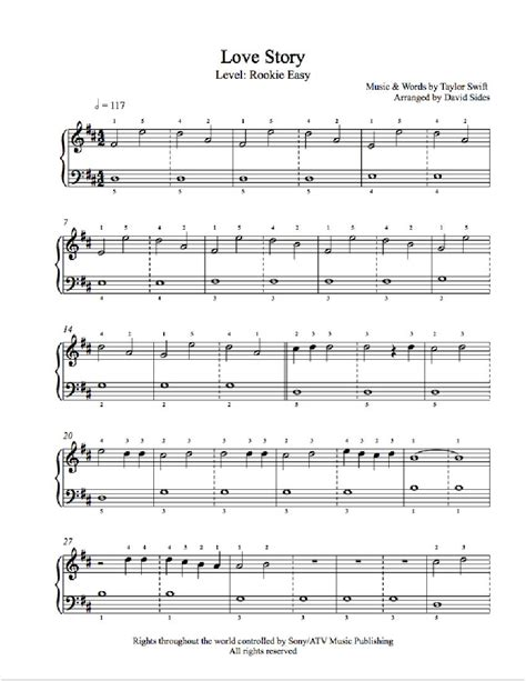 taylor swift chords love story piano love story by taylor swift piano sheet music rookie