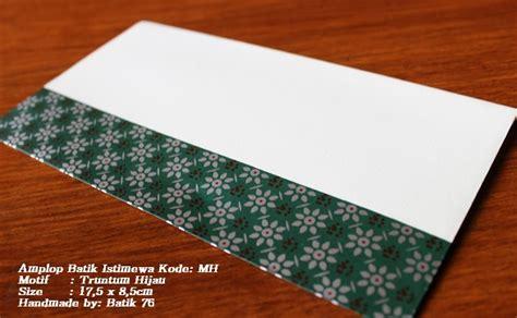 Money Envelope Set Lop Uang lop batik indonesia motif truntum hijau 1pack kode mh kartu ucapan batik kartu ucapan ulang