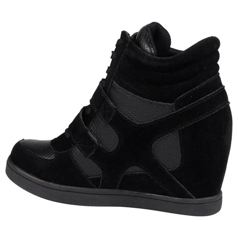 sneakers with high heels thea womens concealed wedges heels trainers high