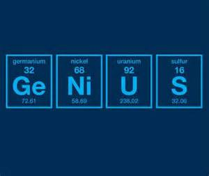 Wall Sayings Stickers genius periodic table of elements funny science t shirt