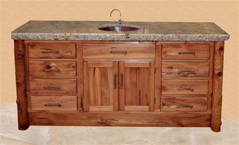 handmade bathroom cabinets vanity wood forged chiseled granite