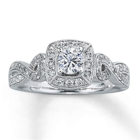 jared engagement ring 5 8 ct tw cut 14k