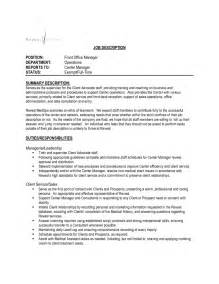 Cover Letter Front Office Manager by Office Manager Cover Letter