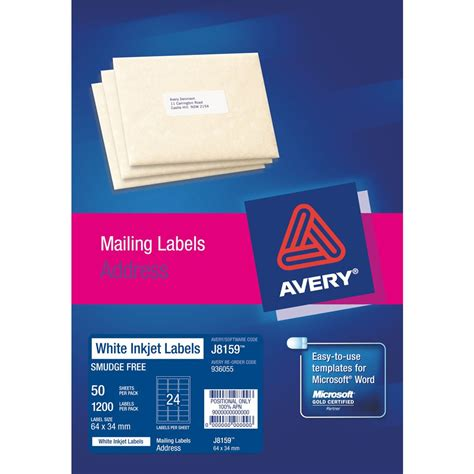 avery labels 24 per sheet template product browse stuart and dunn office choice