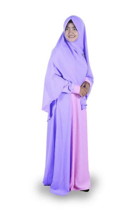 Khimar Adzkia gamis ungu pink adzkia syar i gamis syar