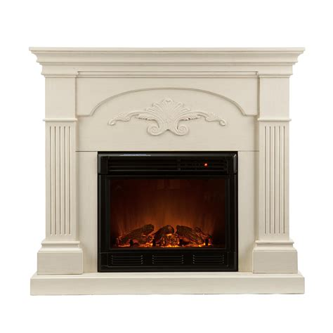 Southern Enterprises Electric Fireplace by Southern Enterprises Sicilian Harvest Ivory