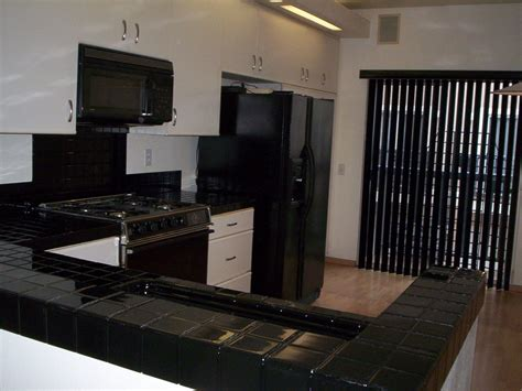 pkb reglazing tile kitchen countertop reglazed black