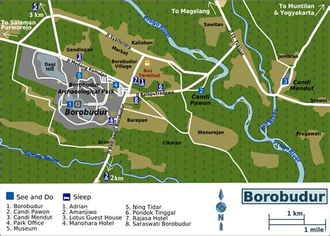 map of file borobudur map png wikimedia commons