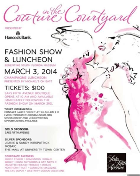 fashion show ticket template clients