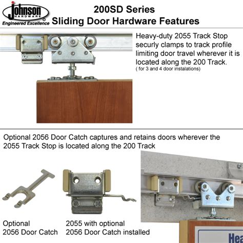 Johnson Bypass Door Hardware by Johnson Hardware 200sd Sliding Bypass Door Hardware