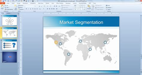 Marketing Plan Template Background For Powerpoint Marketing Presentation Ppt Template