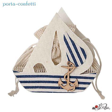 sacchetti porta bomboniere sacchetto porta confetti in juta a forma di barca tema