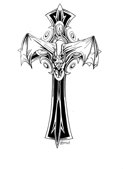 gothic cross tattoos 28 best cross tattoos images on cross