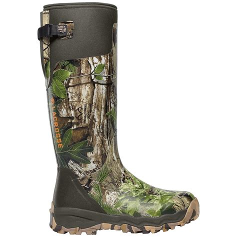 rubber boots hunting 18 quot lacrosse 174 alphaburly pro realtree xtra 174 hunting boots