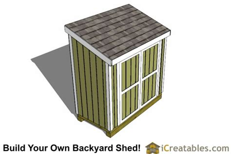 4x8 Lean To Shed by 4x8 Lean To Shed Plans Storage Shed Plans Icreatables