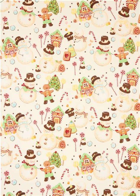 wallpaper christmas material candy snowman christmas fabric alexander henry christmas