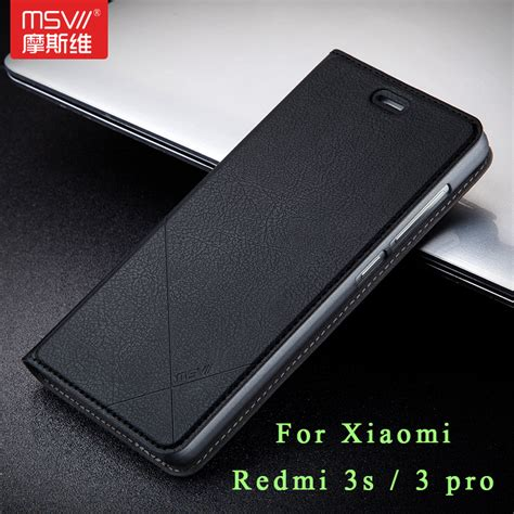 Msvii Xiaomi Redmi 5 Plus Hardcase Slim Eco Hitam aliexpress buy xiaomi redmi 3s original msvii luxury xiaomi redmi 3 pro cover stand