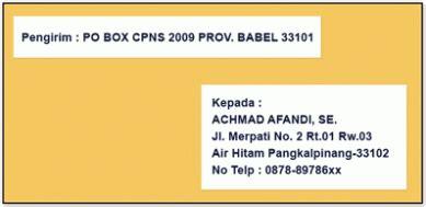 Cara Menulis Di Map Lamaran Pekerjaan by Contoh Cara Menulis Lop Lamaran Radio Lombok