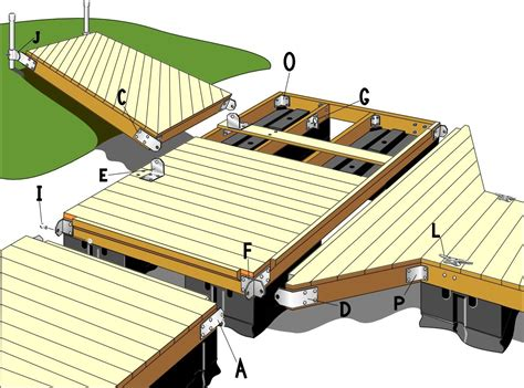floating boat dock blueprints floating dock plans ideas how to attached two decks