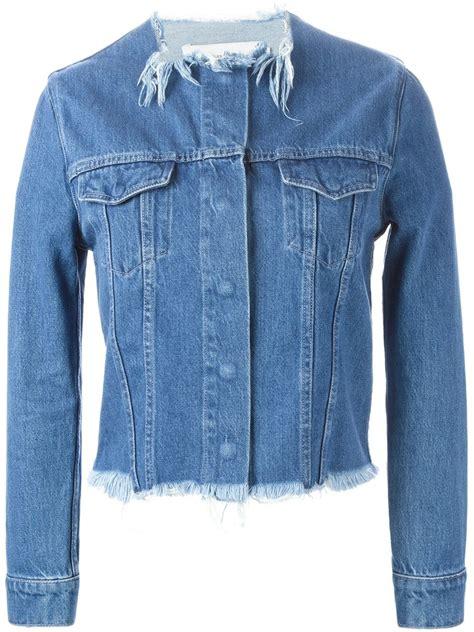 Jacket Marques marques almeida frayed edge denim jacket in blue lyst