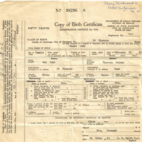 Free Birth Records 7 Best Images Of Blank Birth Certificate Templates Blank Birth Certificate