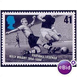 Great Britain 1996 European Football Chionship Sts Set gb 1996 european football chionship 41p billy wright unmounted mint sg 1928 on ebid united