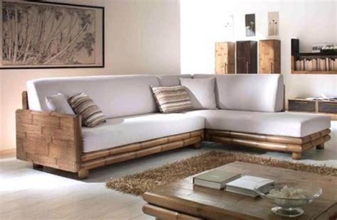divanetti in legno divani etnici stile moderno in legno e bambu
