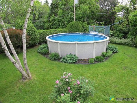 Amenagement Piscine Hors Sol 299 by Maison Vendu Boucherville Immobilier Qu 233 Bec Duproprio