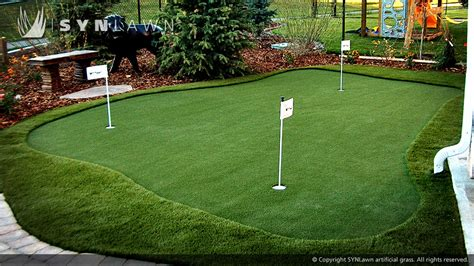 Backyard Chipping Drills by Putting Greens Gallery Synlawn Golf
