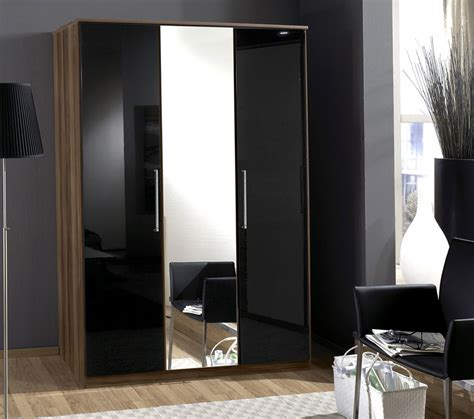 Wardrobe Designs With Mirror For Bedroom Wardrobe Door Black Gloss