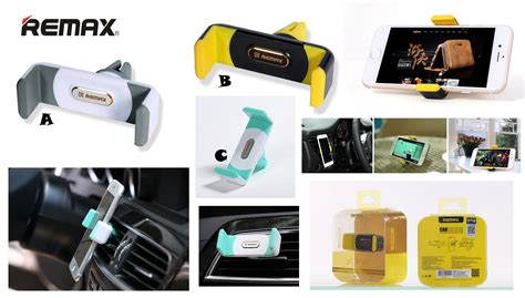 Remax Air Vent Universal Car Holder For Smartphone Graywhite remax car air vent mobile holder grey universal βάση