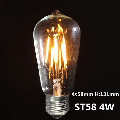 Vintage Led Light Bulbs E27 Vintage Edison Warm Yellow Cob Led Light L Bulbs
