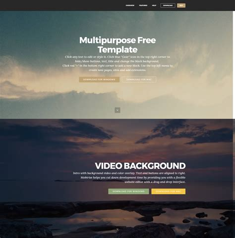 Bootstrap Background Template Free
