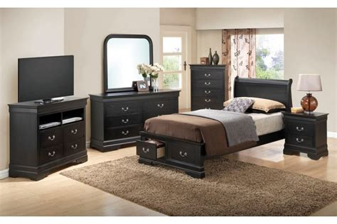 twin size bedroom set bedroom sets dawson black twin size storage bedroom set