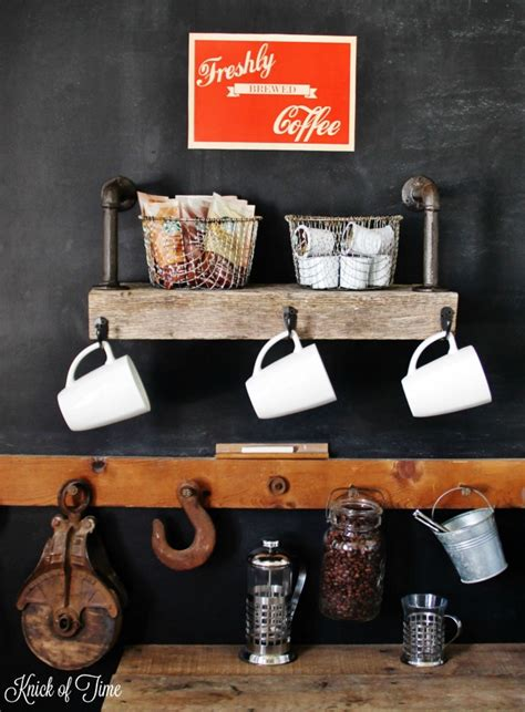 diy coffee shop design coffee shop at home reclaimed wood coffee station knick