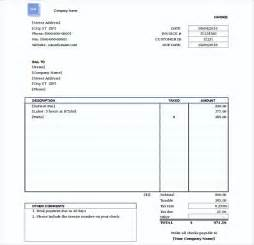 Free Simple Invoice Template Word by Simple Invoice Template Word
