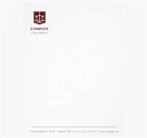 14 law firm letterhead template free psd eps ai