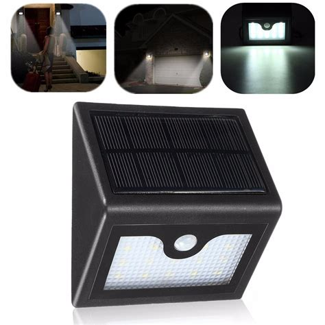 Solar Powered Pir 16led Light With Motion Sensor Detect Berkualitas 16 led solar power pir motion sensor wall light outdoor waterproof garden l alex nld