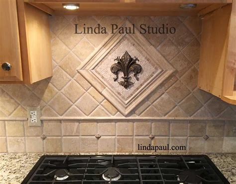 small kitchen backsplash medallions mosaic and