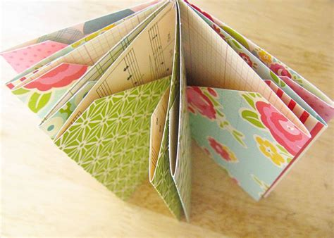 How To Make Pockets Out Of Paper - folded pocket mini book tutorial from the october
