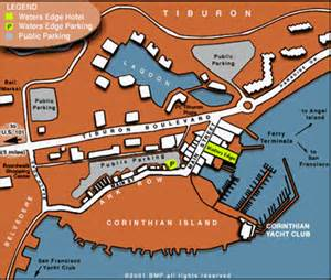 tiburon california map directions map marin hotel collection