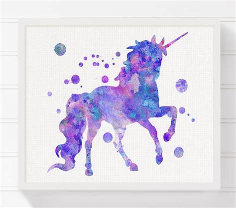 unicorn print watercolor unicorn unicorn painting