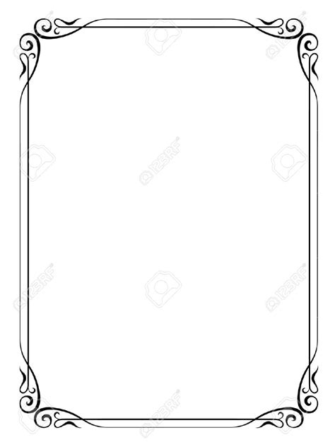 frame design simple ornamental clipart simple pencil and in color ornamental