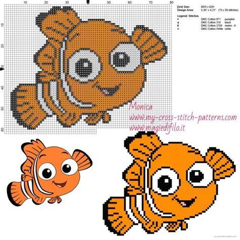 pattern finding in c nemo finding nemo cross stitch pattern cross stitch