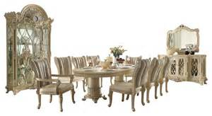 homey design formal beige dining room set with upholstered