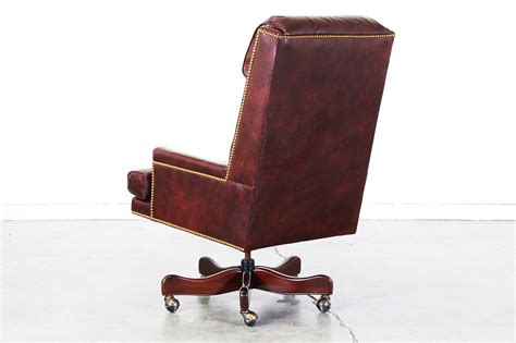 burgundy leather office chair vintage burgundy leather swivel office chair vintage